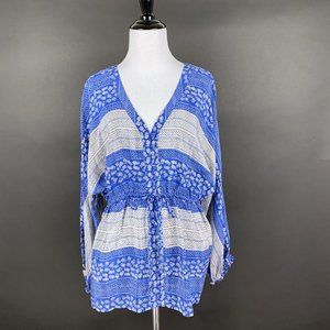 Anthropologie Edme & Esyllte Silk Peasant Top